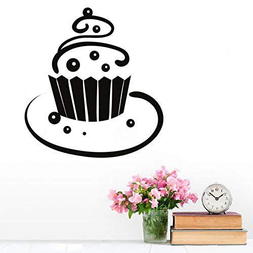 woyaofal Wanddekoration Wandtattoo Windung Cupcake Vinyl Wandaufkleber Für Esszimmer Dekoration Kunst Abnehmbare Wandbild 44x47 cm