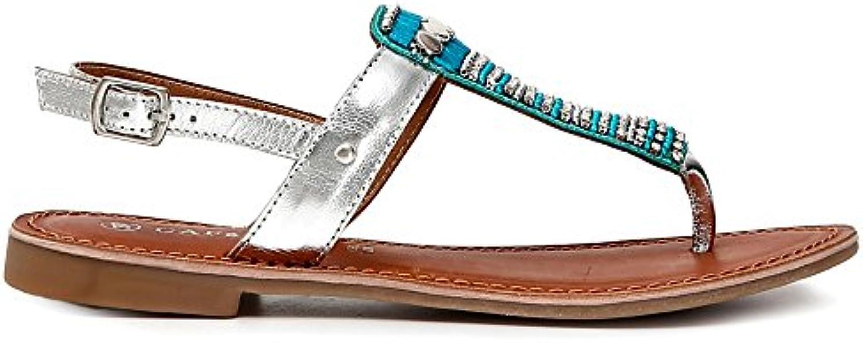 Sandalo Infradito Cafè nero GB102 Turchese con con con Strass e Perline 37 | Lascia che i nostri beni escano nel mondo  | Uomo/Donne Scarpa  17da4b
