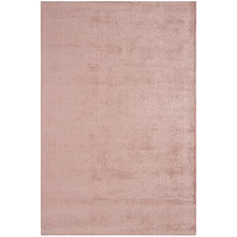 alfombra de diseño contemporáneo con la fibra natural Annet Alfombra 160x230cm Rose Pink Rose