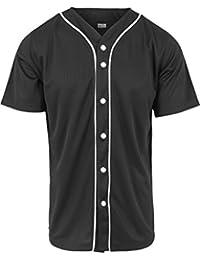 URBAN CLASSICS - Baseball Mesh Jersey (black/white)