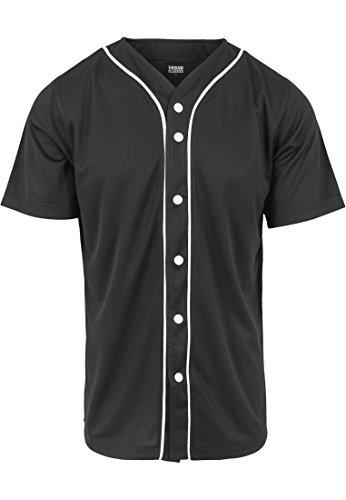 URBAN CLASSICS - Baseball Mesh Jersey (black/white), Gr. XL -