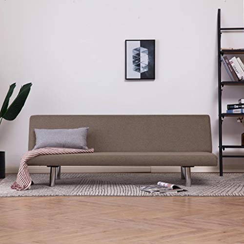 SEAPHY Schlafsofa Taupe Polyester