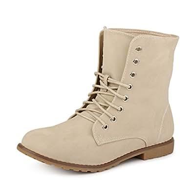best-boots Damen Stiefelette Boots Worker Stiefel BEIGE 1255 Größe 36