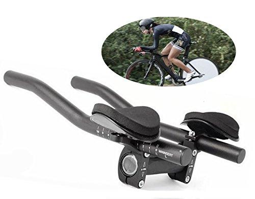 Yeemg Fahrrad Ruhe Lenkeraufsatz Aero Lenker Triathlon Lenker Fahrrad TT Armauflage für Rennräder und Mountainbike Fahrrad Radfahren Aluminiumlegierung Aktualisierte Version (Schwarz)