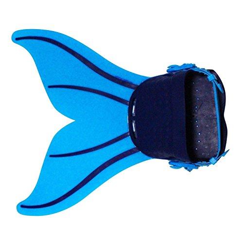 Le SSara Mädchen-Meer-Mädchen Cosplay Badebekleidung Meerjungfrau Shell Badeanzug 3pcs Bikini-Sets (Einheitsgröße, Z6 blau + schwarz) (Masquerade Kleid Schwarz Mit Blau)