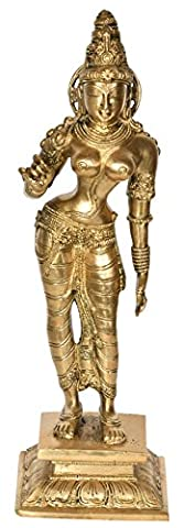Standing Parvati - Brass Statue