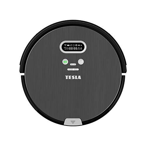 Roboterstaubsauger TESLA RoboStar T80 Pro - Luxusdesign mit klarer Anzeige; 2in1, saugt und Wischt mit Wasser; intelligentes Staubsaugen mit Gedächtnis; großes Display