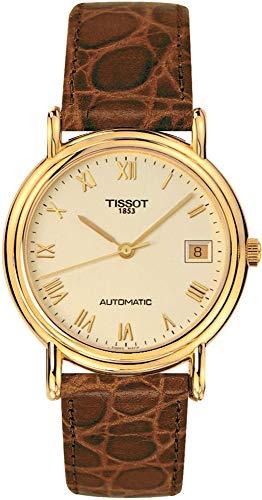 Tissot TISSOT Carson Automatic Full Case Back 18K Gold T71.3.430.23 Reloj Automático para Hombres