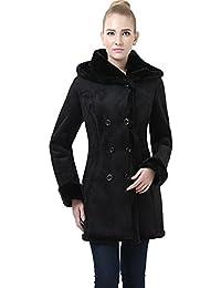 "BGSD Women's ""Cindy"" Hooded Faux Shearling Coat"