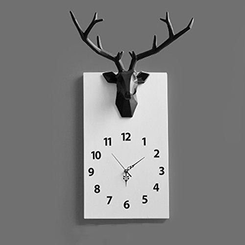 YCLOCK Wanduhr Uhr Wanduhren Stumm Stille Modern Für Wohnzimmer Schlafzimmer  Küche Kinderzimmer Hirsch AA Batterie Harz