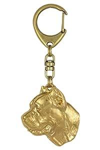Cane Corso, au titre de 999/doré dog Porte-clés en édition limitée ArtDog