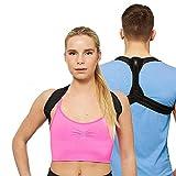 BNMYSY Geradehalter Haltungskorrektur, Körperhaltung Korrektor einstellbare Rücken Lordosenstütze Korrektor Schulter Band Haltung Korrekte Gürtel für Erwachsene,S