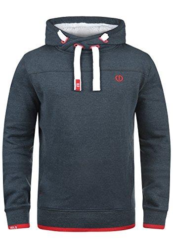 !Solid BenjaminHood Pile Herren Kapuzenpullover Hoodie Sweatshirt mit Teddy-Futter Meliert, Größe:L, Farbe:INS BLU M (P8991)
