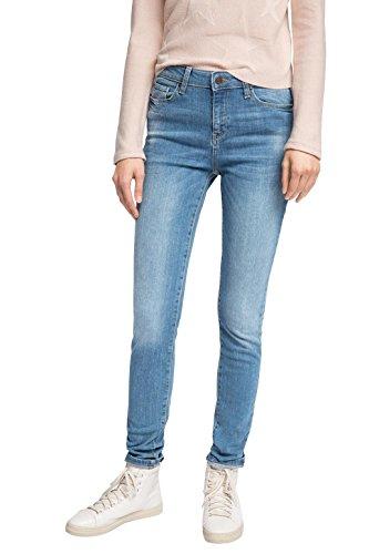ESPRIT Damen Slim Jeanshose mit schmalem Bein, Gr. W27/L34, Blau (E MEDIUM BLUE 955) (Gewaschen Slim-fit-denim)