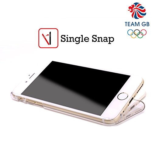 Official Team GB British Olympic Association EST Gold on Black Logo Hard Back Case for Apple iPhone X Geometrico