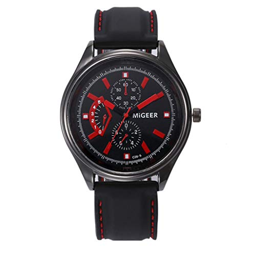 Herren Uhren Männer Mode Silikon Armband LED Stunden Handgelenk Analoge Uhr Silikon Uhr Chenang Licht Gummi Schwarz große Anzeige Digitaluhren für Herren Sport Cool Quarz
