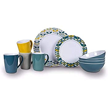 Kampa MM0005 Melamine Set Apex Heritage 16pc Tableware Set
