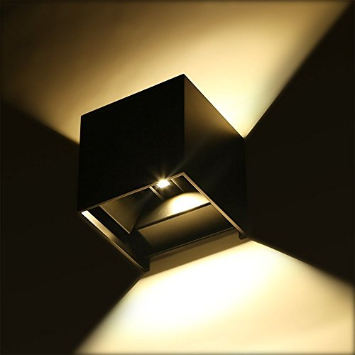 Topmo 7w Applique da parete a LED bianco caldo 2700K lampada da parete di Kelvin qualità alluminio Lampada Esterna da parete Su e Giù design IP65