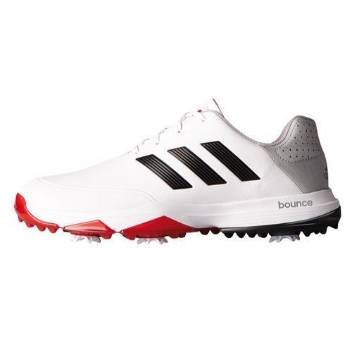 e4154eb60b1dc8 adidas Adipower Bounce WD Scarpe da Golf, Uomo, Bianco/Nero/Rosso,