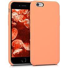 kwmobile Funda para Apple iPhone 6 / 6S - Case para móvil de TPU silicona - Cover trasero en coral