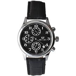 Megia Unisex Chronograph Modellreihe W0613-21A1SS Lederarmband 3ATM