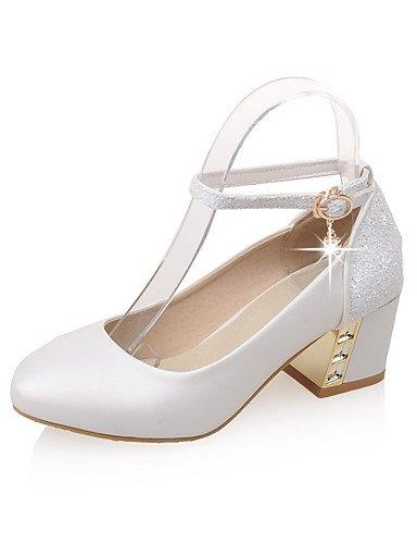 WSS 2016 Chaussures Femme-Bureau & Travail / Décontracté-Bleu / Rose / Blanc-Gros Talon-Confort / Bout Pointu-Talons-Polyuréthane blue-us6 / eu36 / uk4 / cn36