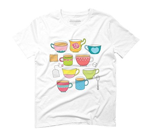 tea-time-graphic-camiseta-para-hombre-diseno-de-los-seres-humanos-blanco-blanco-xxx-large