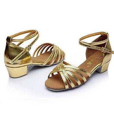 Moda Donna Sandali Sexy donna tacchi Primavera / Autunno punta aperta in cuoio / outdoor casual Stiletto Heel Lace-up argento / Oro Altri golden