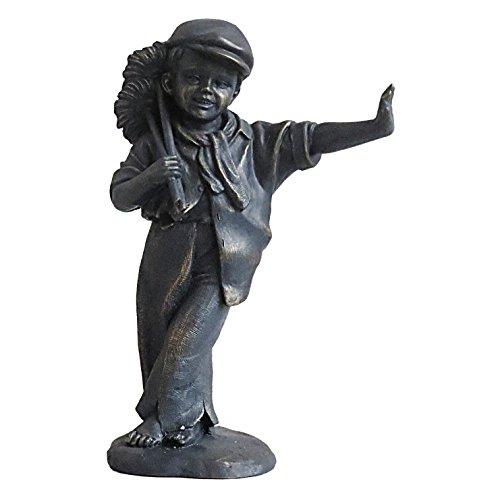 Bronze Effekt Kunstharz Viktorianischer Schornsteinfeger Garten/Innen-Statue