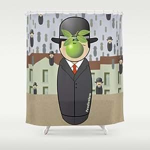 Society6–Kokeshi Magritte, Taille :  Par Pendientera Rideau de douche