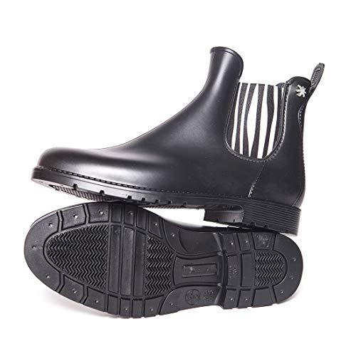 Meduse Jumpy Zebra Chelsea Boots PVC Black & White