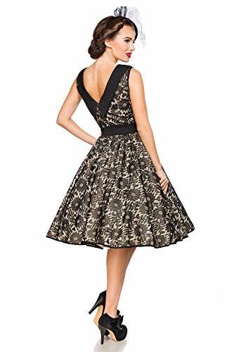 Belsira Damen Vintage-Spitzenkleid im Retro Look M - 4