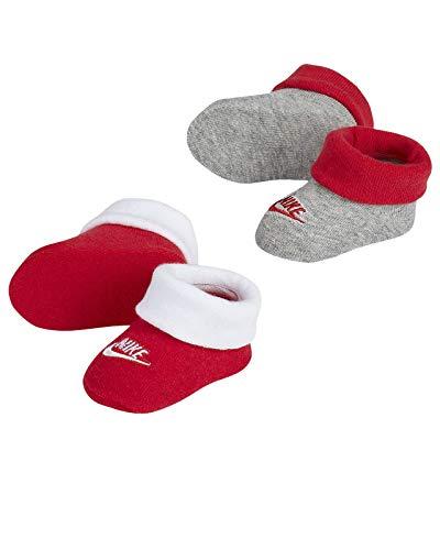 Nike Mädchen Neugeborene Babyschuhe, 2er Pack Gr. 0-6 Monate, University Red(ln0048-u10)/Grey
