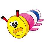 Sharplace Kinder Pop-Up Cartoon Raupe Tunnel Garten Spielzeug, Tragbare & Faltbar