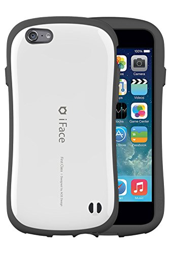 iFace First Class 5.5 inch Case for iPhone 6 Plus - Verizon, AT&T, T-Mobile, Sprint, International, and Unlocked - Apple New iPhone 6 Plus Case 2014 Model 5.5 inch (Orange) White