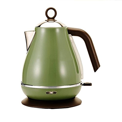 S–L@TX Swan Dome Electric Kettle Fully Stainless Steel Interior Filter Kettle 1.8-Liter 2000W Polished Stainless Steel Vintage Teapot Design Fast Boil , #12