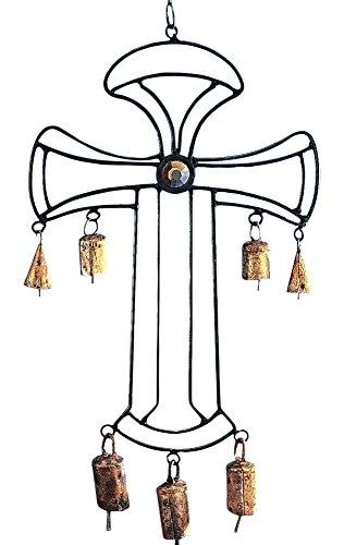 stealstreet 48,3cm Eisen Keltisches Kreuz Chime mit Glas Akzente
