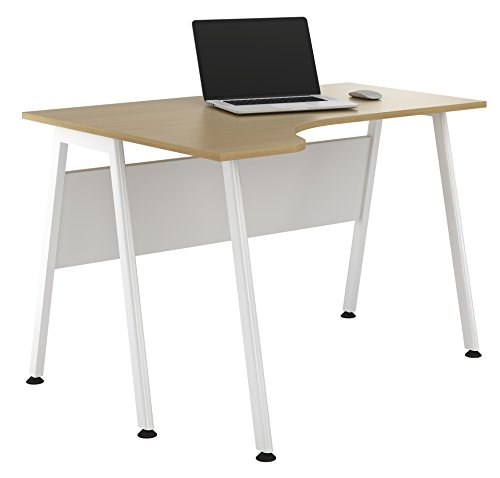 Kit Out My Office UCLIC A Frame Corner Desk, Metal, Beech