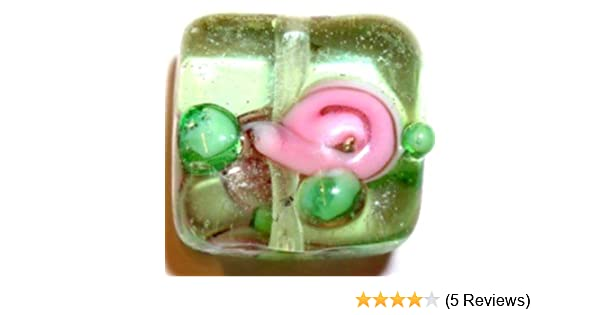 10 pieces Lampwork Square Glass Beads A4147 12x12x6mm