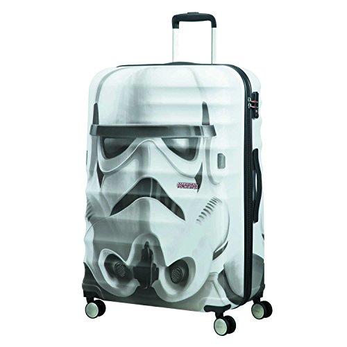 American tourister - Disney Wavebreaker Star Wars Stormtrooper, Spinner 77/28, 77 cm, 96 L, 4.3 KG Multicolour (Star Storm Trooper)