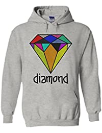 Colourful Diamond Funny Novelty White Femme Homme Men Women Unisex Sweat à Capuche Hooded Sweatshirt Hoodie