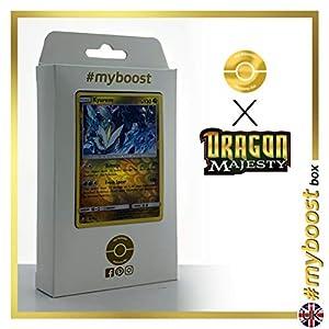 Kyurem 47/70 Holo Reverse - #myboost X Sun & Moon 7.5 Dragon Majesty - Box de 10 cartas Pokémon Inglesas