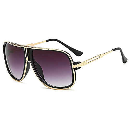 SHEEN KELLY Retro 80er Vintage Piloten Sonnenbrillen Metall Damen Herren Die klassische eyewear Neutral Große Transparente brillen Luxus