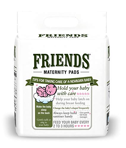 Friends Disposable Maternity Pads with Elastic Loop for Post Pregnancy Bleeding - 30 Pcs