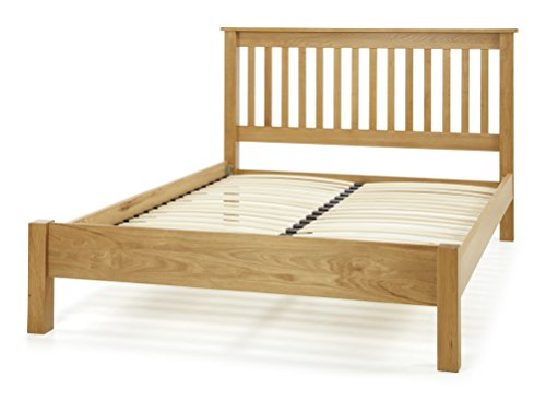 Lincoln American White Oak Wood King Size Bed