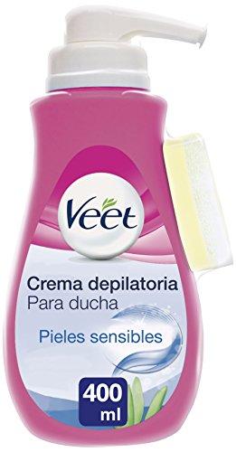 Veet Crema Depilatoria de Ducha con Dosificador Piel Sensible, 400 ml