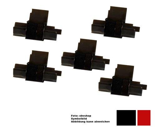 Preisvergleich Produktbild 5x kompatible Farbrolle / Farbwalze ersetzt IR40T / Druckfarbe schwarz/rot