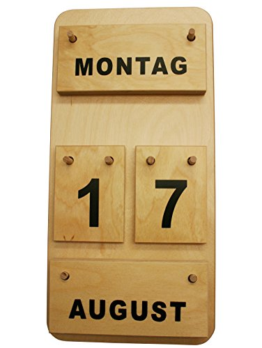 Preisvergleich Produktbild Montessori Dauerkalender aus Holz,  Profimaterial Made in Germany
