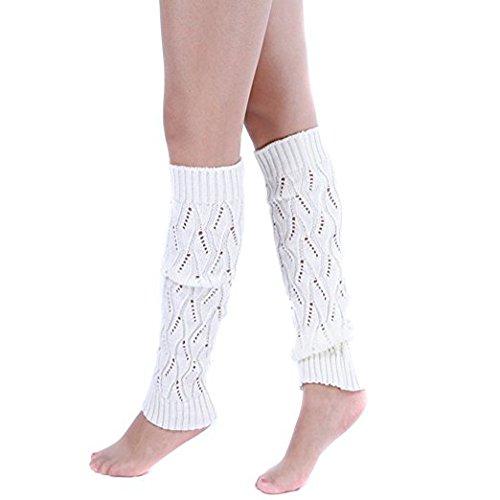 Funyye Neue Art und aushöhlen Blatt Entwurf Weisefrauen lange Bein Wärmer Winter warme Häkelarbeit gestrickte legging Stiefel Socken Stricken Fußwärmer,Farbe #5