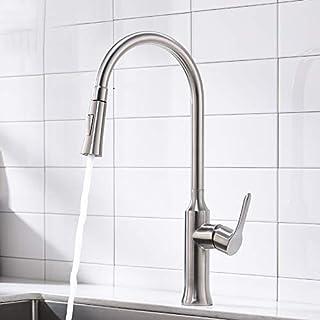 Küchen-Hahn-Schwarzes 360 Grad, das heißen und kalten Wasser-Hahn C dreht